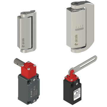 Safety switches for hinged doors