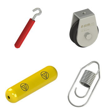 Accessories for rope safety switches