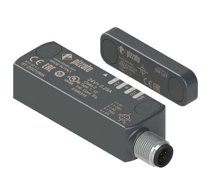 Nuevo accionador para sensores de seguridad de la serie ST con tecnología RFID