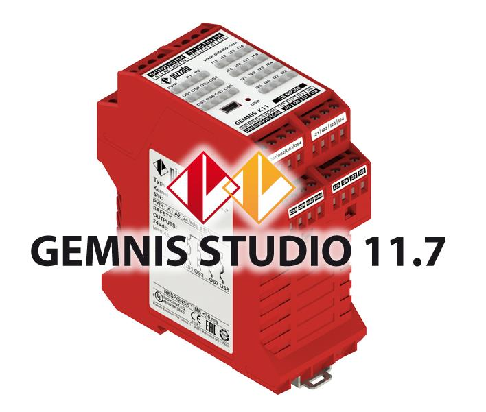 New version of the Gemnis Studio software 11.7