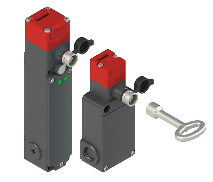 FS and FG series safety switches: new versions with auxiliary release with lock for triangular key