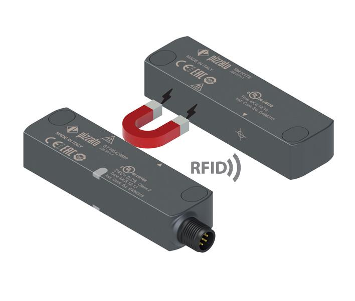RFID safety sensors with magnetic holding ST H series